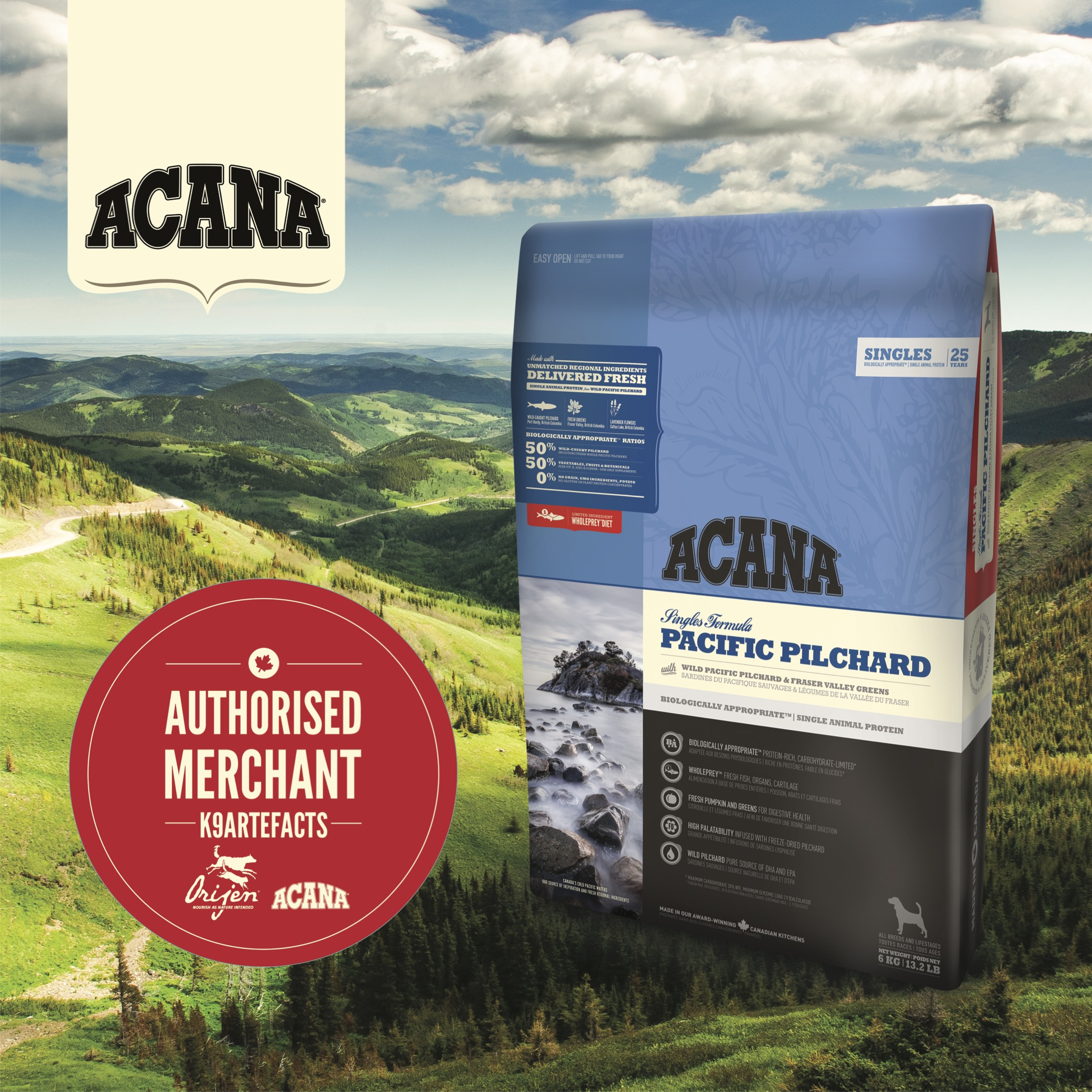 Acana Pacific Pilchard Dog Dry Formula 6kg