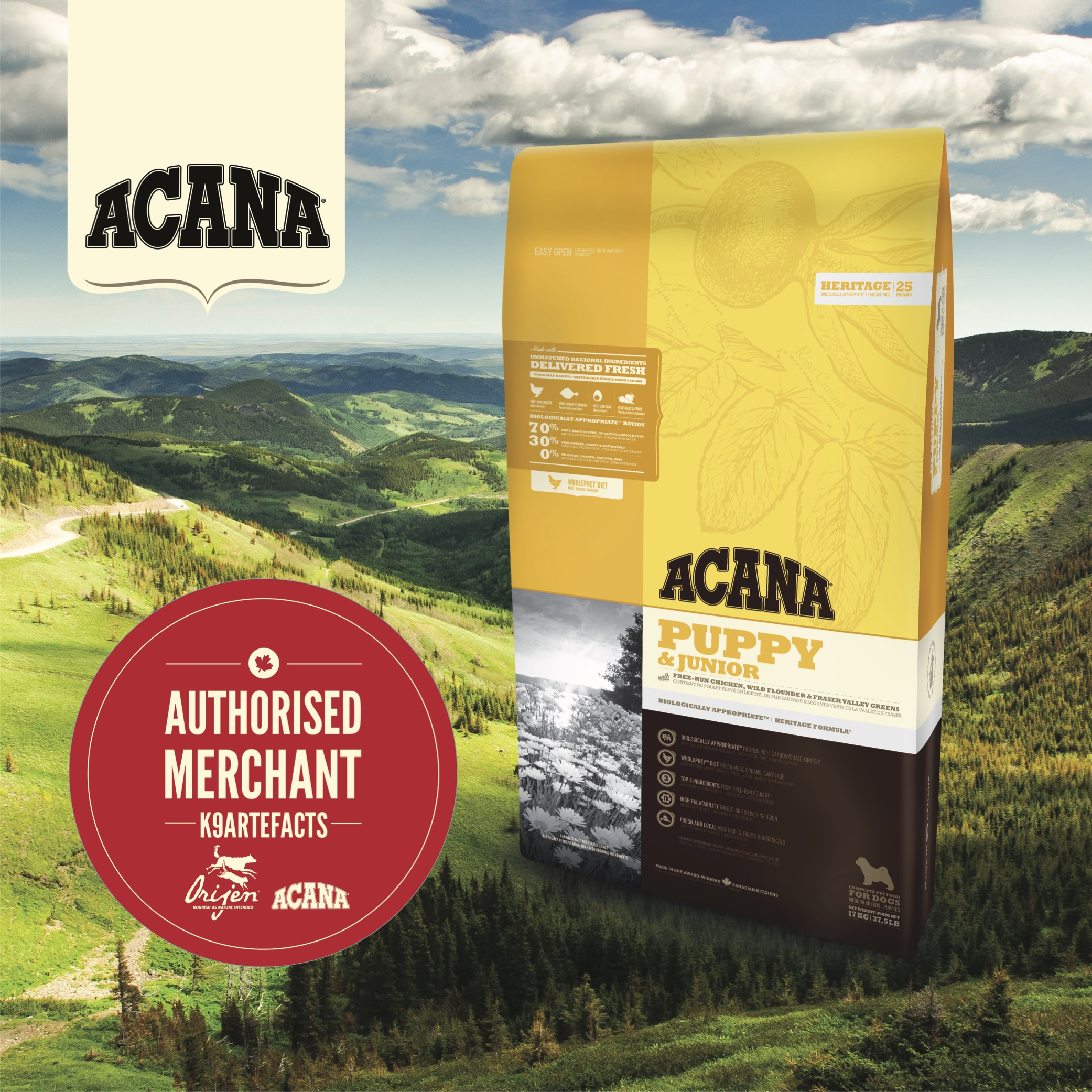 ACANA Puppy & Junior Dog Dry Formula 11.4kg