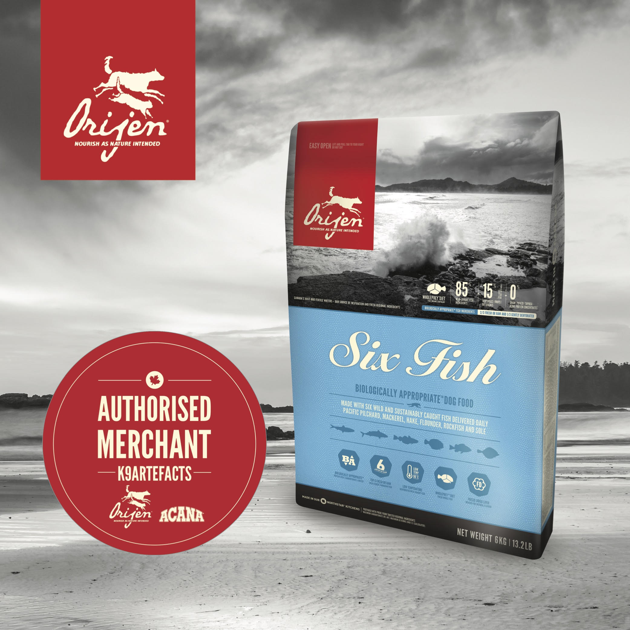 Orijen 6 Fish Dog Dry Formula 11.4kg