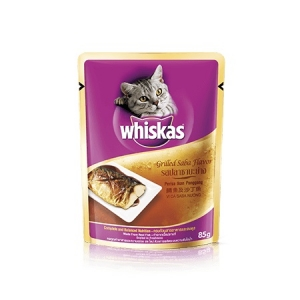 Whiskas Pouch Grilled Saba Flavour Cat Wet Food Online