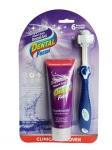 Dental Fresh with 7-ZYME Enzymatic Dental Gel 2.5oz with Triflex Brush Kit for Dogs