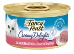 Fancy Feast Creamy Delights Salmon Cat Food with a Touch of Real Milk in a Creamy Sauce