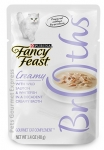 Fancy Feast Creamy with Wild Salmon & Whitefish in a Decadent Creamy Broth Cat Pouch