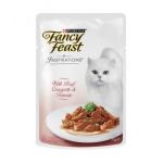 Fancy Feast Inspirations Beef Courgette & Tomato Cat Pouch Food