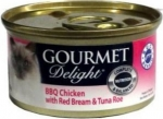 GOURMET Delight BBQ Chicken with Red Bream & Tuna Roe Cat Canned Food