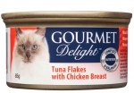 GOURMET Delight Tuna Flakes with Chicken Breast Cat Canned Food