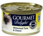GOURMET Delight Whitemeat Tuna and Cheese Cat Canned Food
