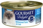 GOURMET Delight Whitemeat Tuna and Crab Cat Canned Food