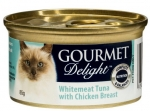GOURMET Delight Whitemeat Tuna with Chicken Breast Cat Canned Food