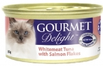 GOURMET Delight Whitemeat Tuna with Salmon Flakes Cat Canned Food