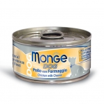 Monge Chicken with Cheese Dog Wet Canned Food
