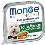 Monge Fresh Chicken and Vegetables Pate with Chunkies Dog Wet Food