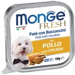 Monge Fresh Chicken Pate with Chunkies Dog Wet Food
