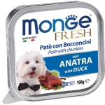 Monge Fresh Duck Pate with Chunkies Dog Wet Food