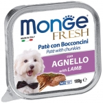 Monge Fresh Lamb Pate with Chunkies Dog Wet Food