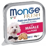 Monge Fresh Pork Pate with Chunkies Dog Wet Food