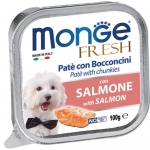Monge Fresh Salmon Pate with Chunkies Dog Wet Food