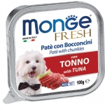 Monge Fresh Tuna Pate with Chunkies Dog Wet Food