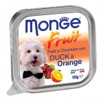 Monge Fruit Duck and Orange Pate and Chunkies Dog Wet Food