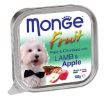 Monge Fruit Lamb and Apple Pate and Chunkies Dog Wet Food