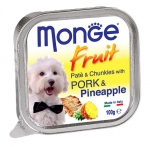 Monge Fruit Pork and Pineapple Pate and Chunkies Dog Wet Food