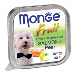 Monge Fruit Salmon and Pear Pate and Chunkies Dog Wet Food