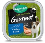 Nature's Gift Gourmet Chicken & Duck Dog Tray Food