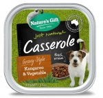 Nature's Gift Gourmet Kangaroo, Vegetable & Brown Rice Gravy Style Dog Tray Food