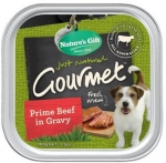 Nature's Gift Gourmet Prime Beef in Gravy Dog Tray Food