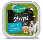 Nature's Gift Strips Chicken with Carrots & Peas Dog Tray Food