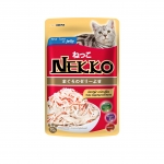 Nekko Pouch Real Tuna in Jelly with Kanikama Cat Wet Food
