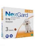 NexGard Chewable 3 Tablets for Small Dogs 2-4kg