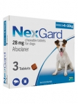 NexGard Chewable 3 Tablets for Small Dogs 4-10kg