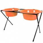 Platinum Pets DeluX Double Raised Feeder Hunter Orange