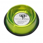 Platinum Pets Stainless Steel Embossed Non-Tip Bowl Corona Lime