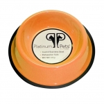 Platinum Pets Stainless Steel Embossed Non-Tip Bowl Hunter Orange