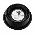 Platinum Pets Stainless Steel Embossed Non-Tip Bowl Midnight Black