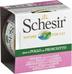 Schesir Nature Chicken Fillets with Ham in Jelly Cat Canned