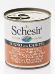 Schesir Tuna w Carrots Dog Canned