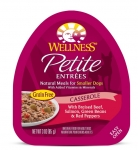 Wellness Small Breed Petite Entrees Casserole Braised Beef, Salmon, Green Beans & Red Peppers 3oz
