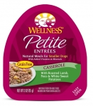 Wellness Small Breed Petite Entrees Casserole Roasted Lamb, Peas & White Sweet Potatoes 3oz
