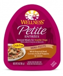 Wellness  Small Breed Petite Entrees Mini-Filets Roasted Beef, Carrots & Red Peppers in Gravy 3oz