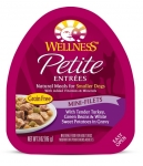 Wellness Small Breed Petite Entrees Mini-Filets Tender Turkey, Green Beans & White Sweet Potatoes in Gravy 3oz